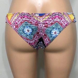 PILYQ fanned teeny bikini bottom.